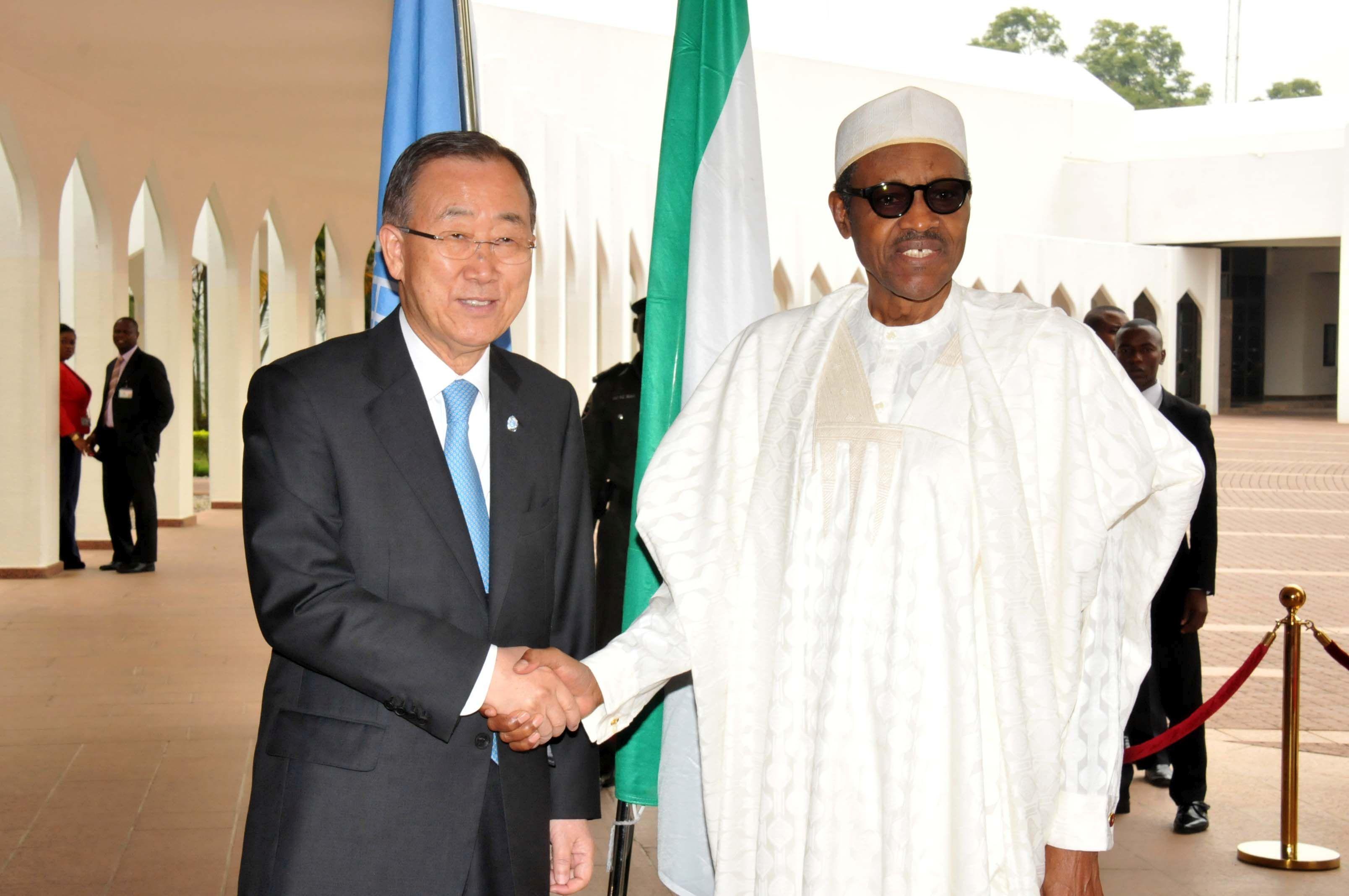 Ban Ki Moon and Buhari