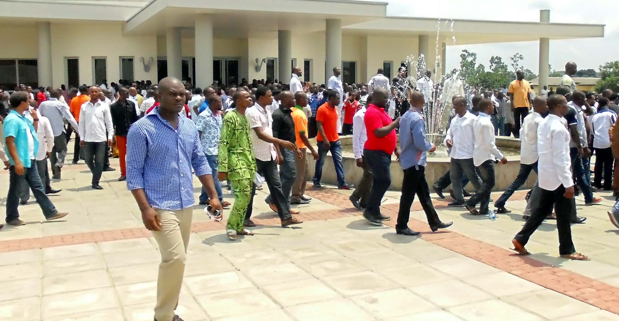 PIC. 28. EX-MILITANTS DURING THE INVESTIGATIVE PUBLIC HEARING BY HOUSE OF REPS. COMMITTEE ON PUBLIC   PETITIONS ON THE EXCLUSION OF AKWA ÍBOM EX-MILITANTS FROM THE FEDERAL GOVERNMENT  AMNESTY   PROGRAMME IN UYO ON TUESDAY (12/3/13).