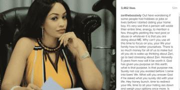 Diamond Platnumz's babymama, Zari Speaks out