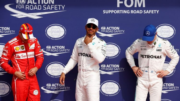 F1 : Hamilton equals pole record to top Vettel
