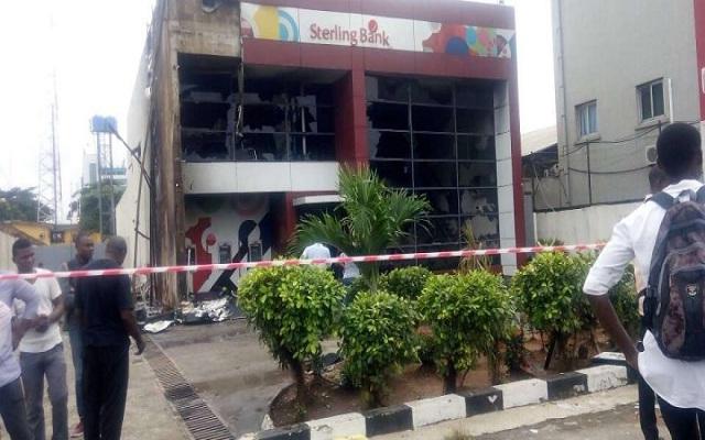 Burnt-Sterling-Bank-building-in-Apapa-TVC