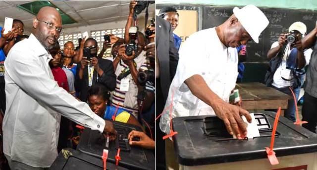 Weah, Boakai contend in Liberia's Presidential run-off