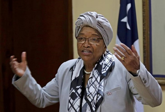 Liberia's President Ellen Johnson Sirleaf.  REUTERS/Thierry Gouegnon/File Photo