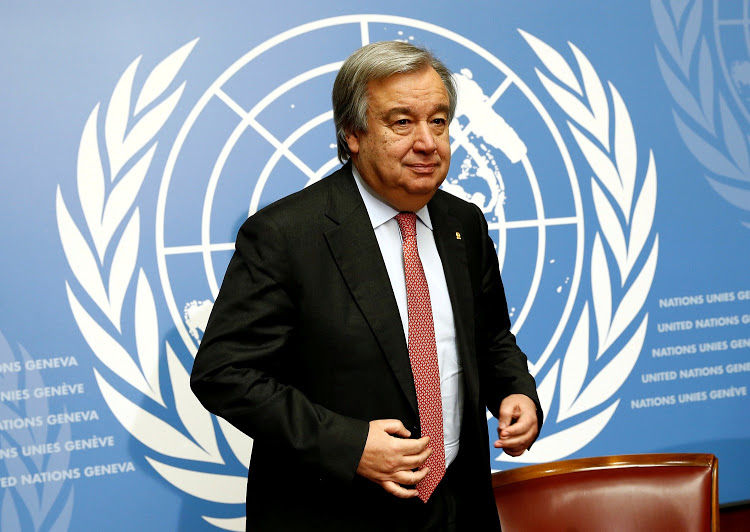 Antonio Guterres, United Nations High Commissioner for Refugees (UNHCR), arrives for a news conference at the United Nations in Geneva, Switzerland December 18, 2015.  REUTERS/Denis Balibouse/File photo