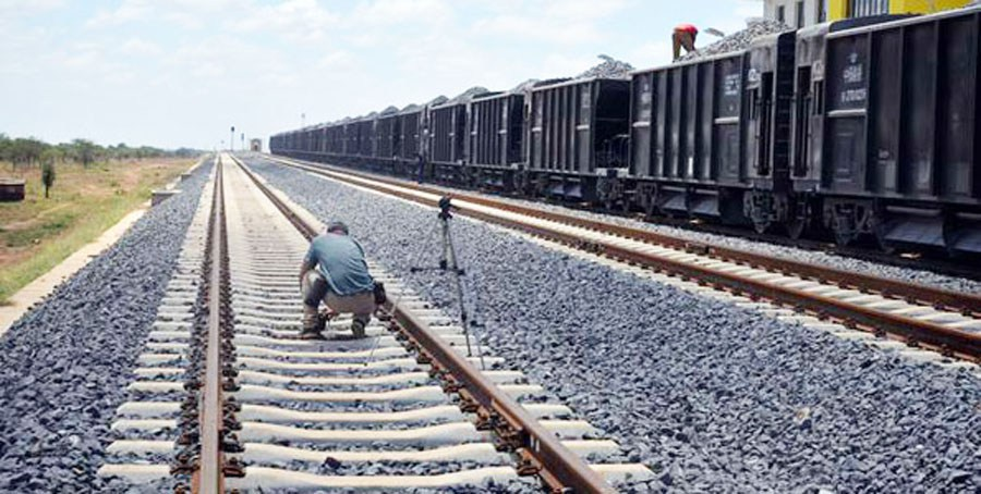 A section of the Standard Gauge Railway Simba crossing Station in Makueni County on March 17, 2016.. The Standard Gauge Railway is expected to boat commerce in Kenya and East Africa once completed in June 2017. SALATON NJAU (NAIROBI)