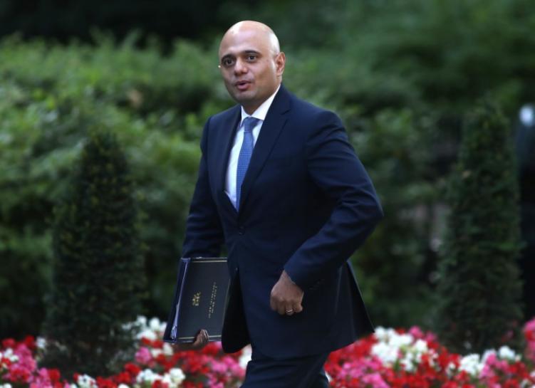 Britain's Home Secretary Sajid Javid arrives at 10 Downing Street in London, Britain,