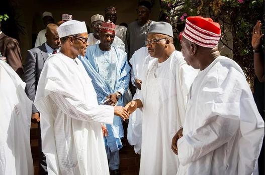 APC Governors visit President Buhari in Daura