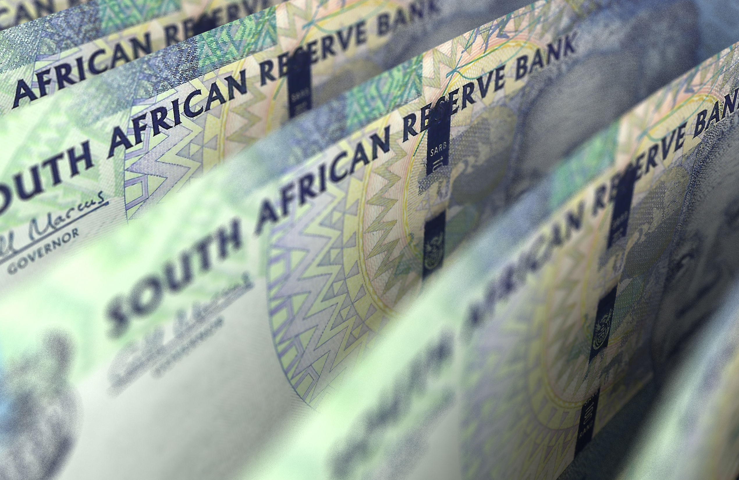 68224788 - south african rand closeup