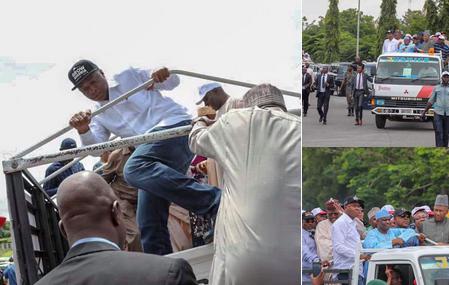 Saraki, Dogara, Secondus, lead protest against Osun election result