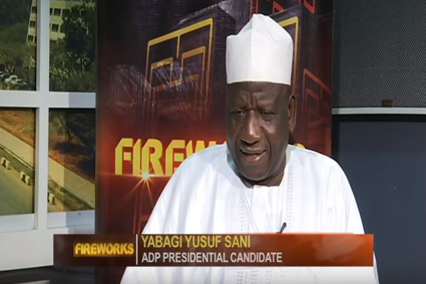 Fireworks with ADP Presidential Candidate, Yabagi Yusuf Sani