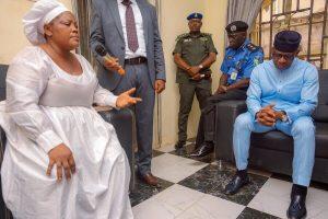 Governor Abiodun pays condolence visit to Tiamiyu Kazeem's family