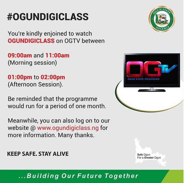 Ogun State TV to commence transmission of digital classes for ...