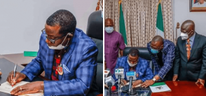Governor Lalong signs N147.53bn 2021 budget