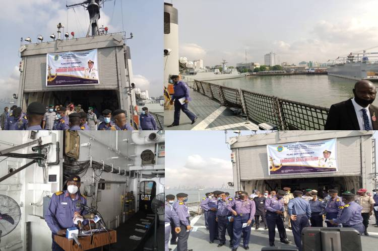 Chief of Naval staff flags off 2020 Sea Inspection in Lagos