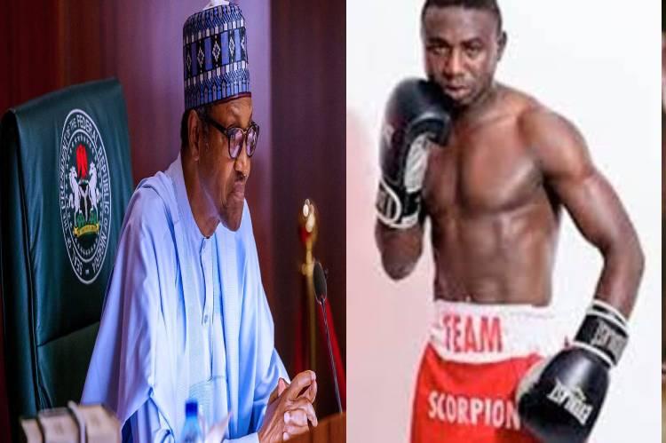 President Buhari congratulates new Boxing champion, Ridwan Oyekola