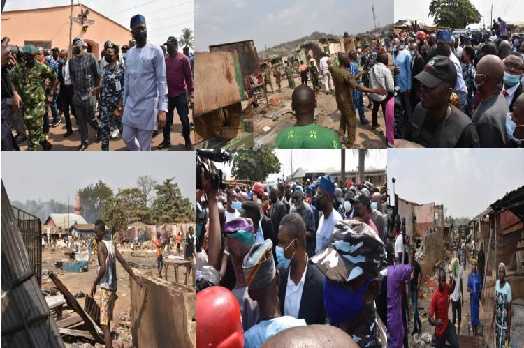 Image result for Northern governors, Seyi Makinde visit Shasha Market