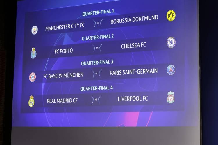 Bayern Munich draw PSG in Champions League Quarterfinals
