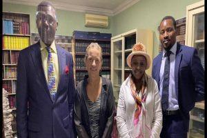 L-R: Ebun-Olu Adegboruwa, Kari O'Rourke; Dr Ama (Kari's friend), and Tosin Adesioye (Esq of Ebun-Olu Adegboruwa SAN & Co).