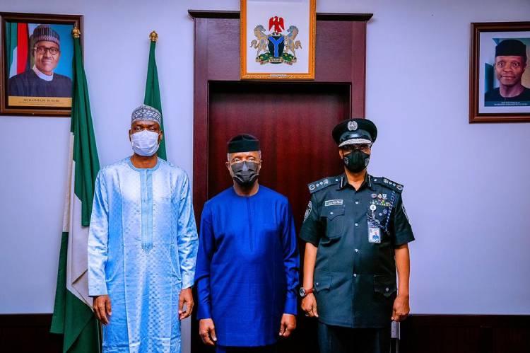 Photo Story : Decoration of Acting IGP, Usman Alkali Baba, by Vice  President, Professor Yemi Osinbajo - TVC News Nigeria