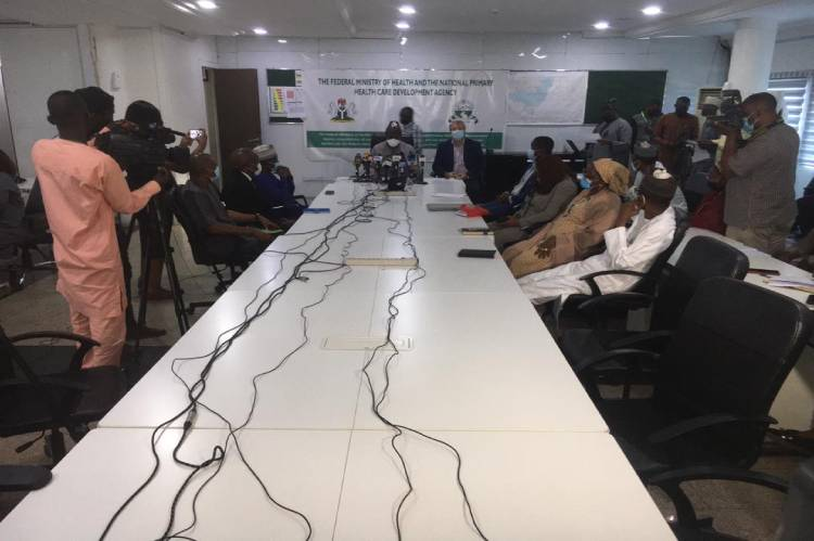 National Primary Health Care Development Agency briefing on COVID-19 Vaccines in Abuja
