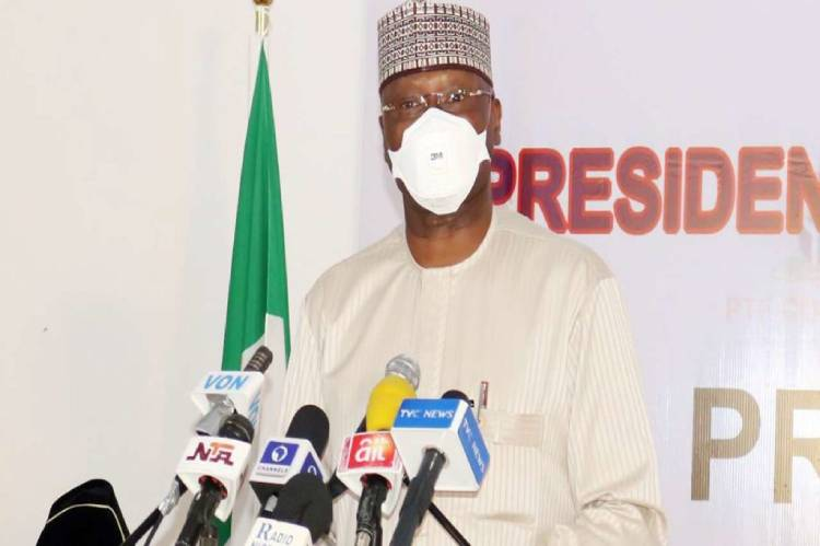 Boss Mustapha Speaking at the PSC as Nigeria adds South Africa to restricted countries list