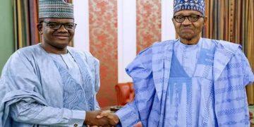 President Muhammadu Buhari welcomes Governor Matawalle into APC