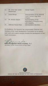 Yahaya Bello approves establishment of Kogi State Youth Development Commission