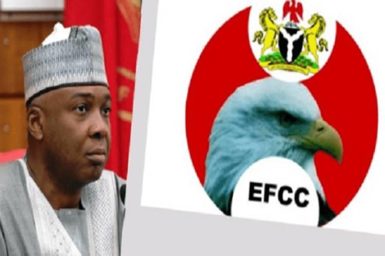 Former Senate President, Bukola Saraki questioned by EFCC