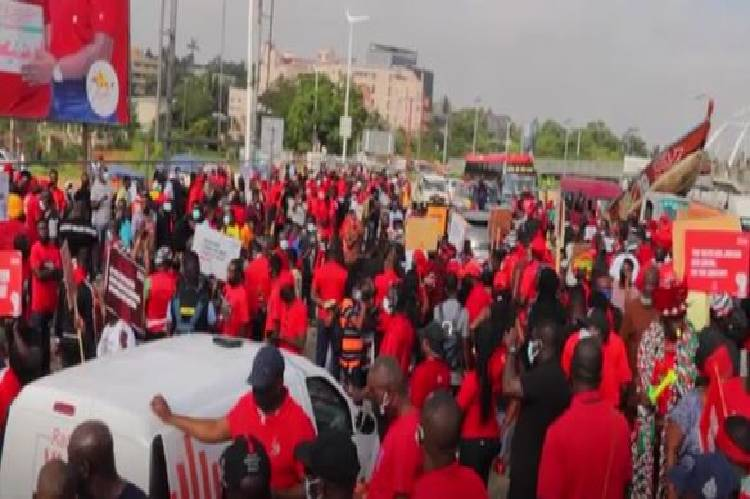 Ghana youths protest