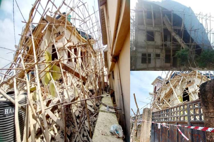 24 persons escape death as two buildings collapse in Anambra