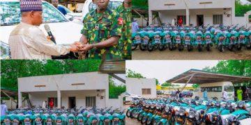 Kebbi donate six Hilux patrol Vehicles, 30 motorcycles to Nigerian Army