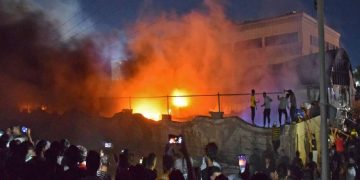 World news about fire outbreak in Iraq hospital
