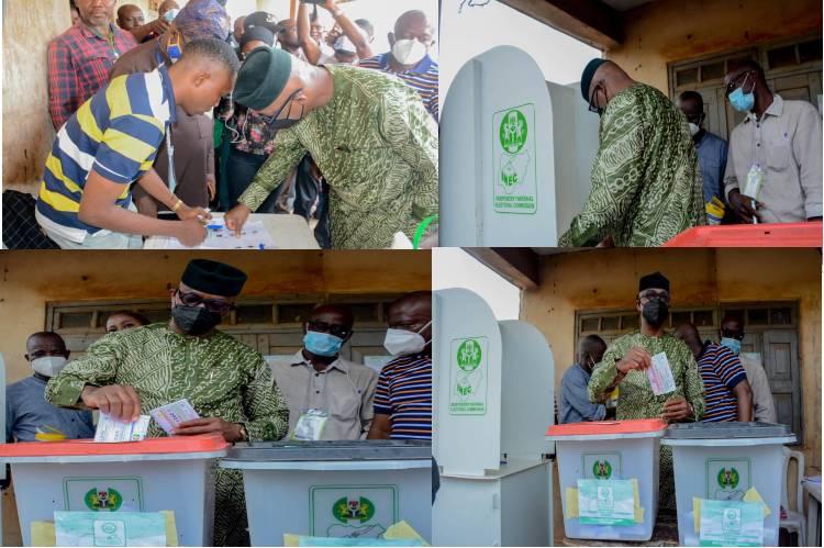 Ogun Council Poll: Governor Abiodun votes at Polling Unit 2, Ita-Isoyin, Iperu Remo