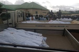 Latest news is that 22 commuters killed in Jos, 14 others injured