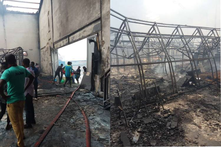 Latest news is that Fire Guts Hi-Impact TV Studio, no life was lost - MD