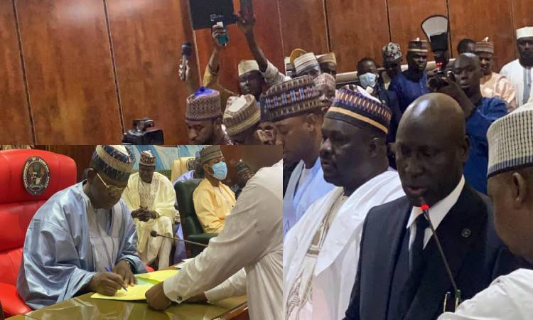 Gov. Matawalle swears-in six Commissioners, two Perm Secretaries, Others