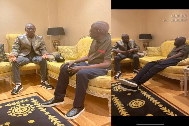Governor Sanwo-Olu visits Tinubu in London