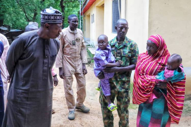 Latest news in Nigeria Governor Zulum receives another Chibok Schoolgirl in Gwoza
