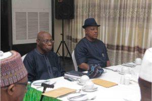 PDP Crisis: Obasanjo, Uche Secondus in closed door meeting