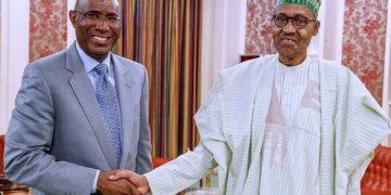 Buhari felicitates with Deputy Senate President, Ovie Omo-Agege at 58