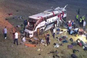 Bus crash in Turkey leaves 14 dead, 18 injured