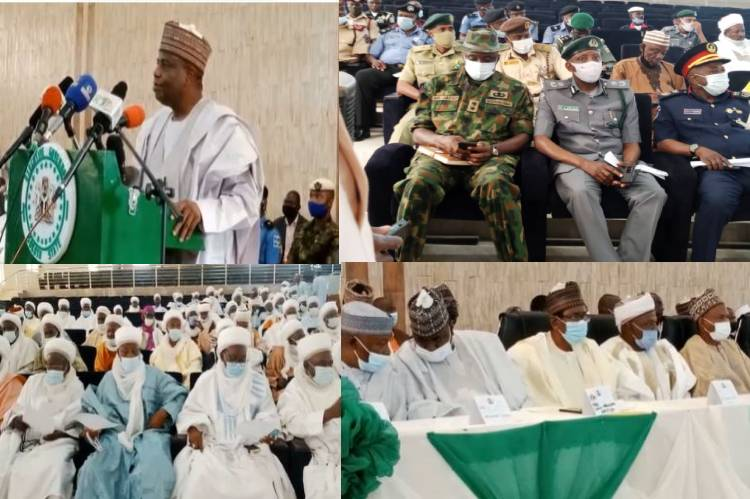 Tambuwal, Sultan, fmr Governors convene stakeholders security meeting in Sokoto