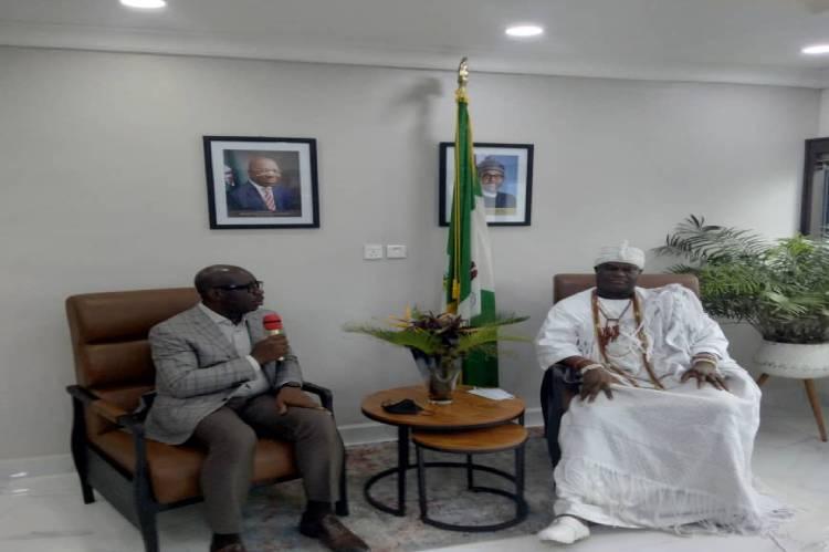 Latest news is that Ooni of Ife pays courtesy visit to Edo state Gov, Godwin Obaseki