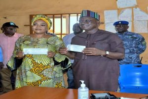 Latest news in Nigeria today is that Governor Ortom, wife register at new polling unit
