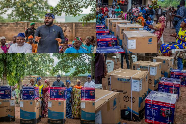 Latest news is that Oyo Speaker empowers more Constituents in Lanlate with deep Freezers, Generators