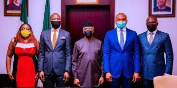 PHOTOS: Osinbajo receives management of Nigerian Exchange Group