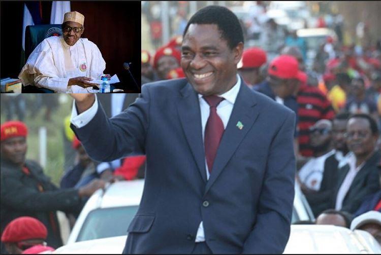Latest news is that President Buhari congratulates President-elect of Zambia