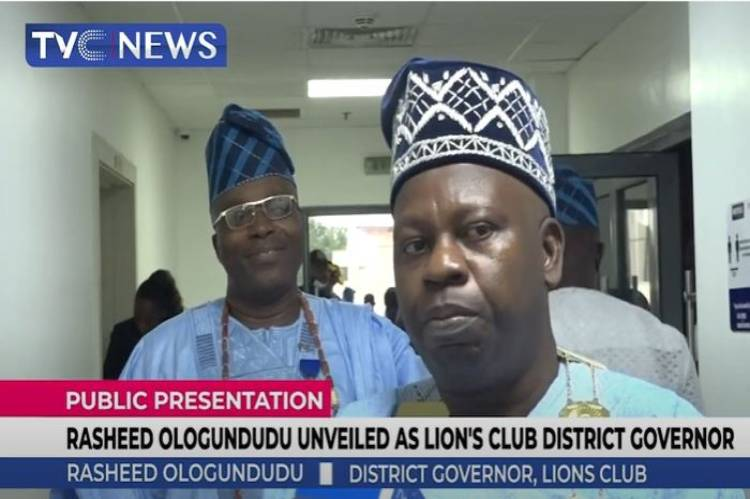 Latest News in Nigeria is that Rasheed Ologundudu unveiled as Lions Club's District Governor