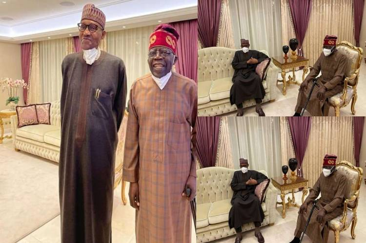 Latest news is that Tinubu thanks President Buhari for visiting him in London