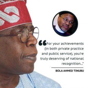 Latest Breaking News about Asiwaju Bola Ahmed Tinubu: Asiwaju Tinubu elogises Mamman Daura on Vanguard Lifetime Achievement Award